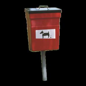 poubelle urbaine polyéthylène plastiques déjection canine rosebud