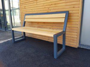 banc urbain bois acier standing Miami wood
