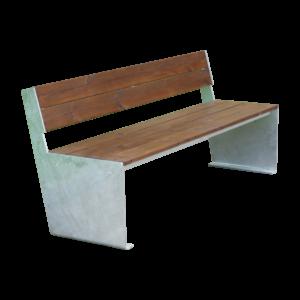 banc riga urbain bois acier
