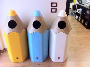 poubelle easy school école polyéthylène