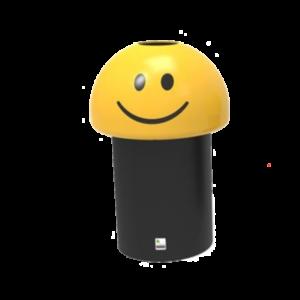 poubelle smiley école polyéthylène