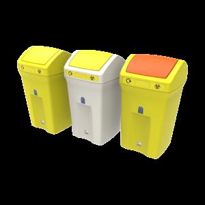 poubelle médicale anti bactérien anti-virus flip hygiénique