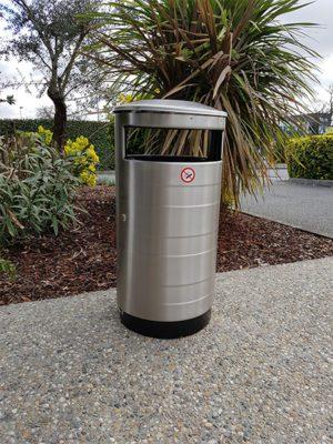 poubelle urbaine relief inox Australia