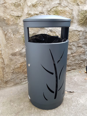 poubelle urbaine decorative Australia Wild acier