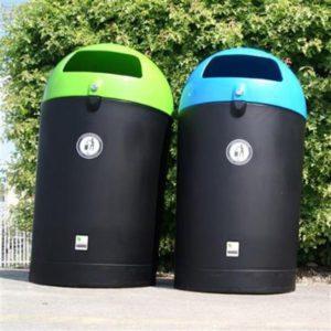 poubelle manly dome urbaine plastique polyéthylène double ouverture