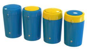 poubelle urbaine plastique polyéthylène manly flip