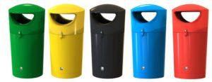 poubelle urbaine plastique polyéthylène manly
