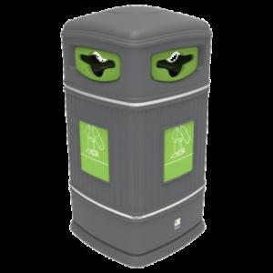 poubelle urbaine plastique polyéthylène peninsula tri dechets recyclage