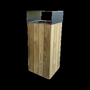 poubelle urbaine bois acier wood city